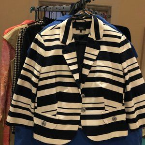 Marks and Spencer Navy and Cream Blazer Jacket